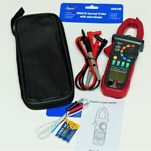 CPH100 Supco HVAC Clamp Multi Meter Current Probe with MicroAmps and Temperature