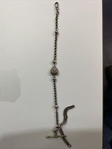 Lovely Solid Silver French Albertina Pocket Watch Chain
