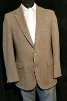 Izod Men's Vintage Tweed Wool Sport Coat Jacket Partially Lined Herringbone 42 R