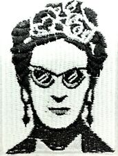 Frida Kahlo Embroidered Sunglasses Quality Iron On Patch Mexican Black White #49