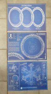 Stargate sg-1 .3 A3 blueprint schematic posters ,sg1 atlantis and 3 gates