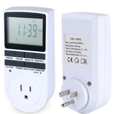 LCD Digital Outdoor Timer Programmable Plug in Light Switch 7-DAY Time Setting