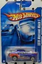 MACH 1 BLUE DRAG 1970 70 2007 125 RACE CAR MUSTANG FORD HW HOT WHEELS