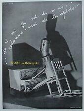 PUBLICITE SPIDO SPIDOLEINE DO RE MI FA SOL LA SI PIANO HUILE DE 1932 FRENCH AD