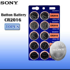 10 x SONY CR2016 Lithium Battery 3V Exp 2025 Pack 10 pcs Coin Cell