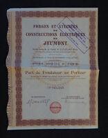 ACTION Forges et ateliers de construction électrique de JEUMONT french bond