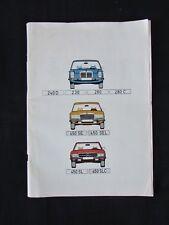MERCEDES BENZ 1974 CATALOGUE-240D, 230, 280, 280C, 450SE, 450SEL, 450SL, 450SLC