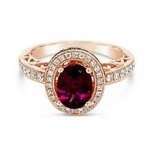 Le Vian chocolateros ® Anillo-Rodolita, chocolate/Vainilla diamantes ® 14K Oro Rosa