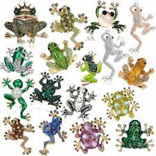 Fashion Animal Frog Crystal Rhinestone Brooch Pin Women Costume Jewelry Gift Hot