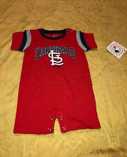 New St. Louis Cardinals MLB Majestic Baseball One Piece Shorts Size 3/6 Months