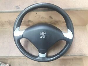 PEUGEOT 307 CC 180 Steering Wheel Black Leather  Cabriolet Convertible HDi