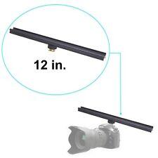 "12"" Flash Bracket Extension Bar Camera DSLR Mount w/ Cold Shoe Adapter All Metal"
