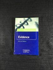 Evidence, Neil Van Dokkum, Paperback ISBN 9781858004631