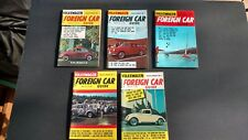 Lot of 5 vintage mini-magazines FOREIGN CAR GUIDE 1966 Excellent!