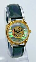 Vintage 1990s Women' FOSSIL Skeleton, Abalone Shell, Gold Tone Watch, SK5016