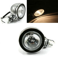 "10CM 4"" Motorcycle Halogen H3 Fog Light For Harley Custom Yamaha Suzuki Kawasaki"