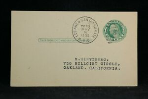 RPO: Los Ang & San B'D'No 1930 Philatelic Postal Card, California Railroad