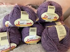 Queensland Kathmandu Chunky Wool - Cashmere -silk Yarn 9 Skeins Total