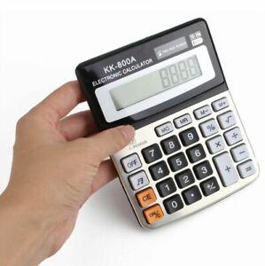 8 Digits Display Desktop Calculator, Dual Power for Maths Accounts & Business