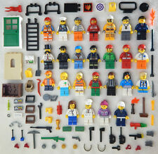 25 NEW LEGO MINIFIG LOT city town Men Women accessories minifigure people figure