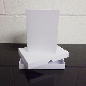 "5"" x 7"" White Greeting Card Box / Wedding Invite Box With Card Blanks Choose Qty"