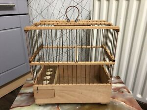 wooden goldfinch / mule cage canary song cage handmade brand new bird cover