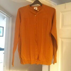 "🐞Ladies Vintage Tricel Cardigan.  38"" burnt orange(measurements in pics)🐞"