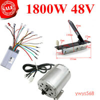 48V 1800W Brushless Motor+Controller Box + Throttle Pedal For E Go Kart ATV Quad