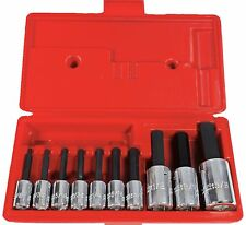 """Proto® J4900A 3/8"""" & 1/2"""" Drive 10 Piece Hex Bit Set 1/8"""" to 5/8""""Made In USA"""