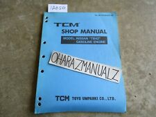 Nissan TCM Forklift TB42 Gas Engine Shop Service Manual