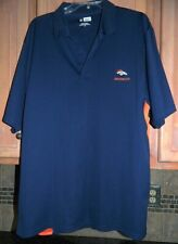 Men's Golf Shirt Navy Blue Size XL Denver Broncos NFL Team Apparel