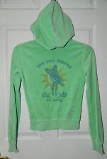 JUICY COUTURE juniors girls Green Terry SURFER GIRL Sweatshirt* P XS