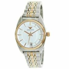 Emporio Armani Classic Women's Watch AR1630 Silver Tone Dial Two Tone Bracelet