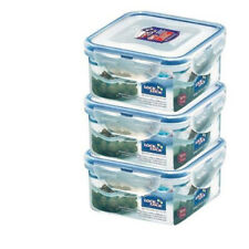 Lock & Lock BPA-Free Plastic square Food Container Storage Lunch Box HPL850 X 3
