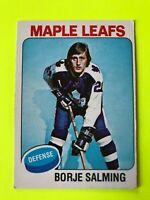 Borje Salming O-Pee-Chee NHL Hockey Card #283 1975-76 Toronto Maple Leafs