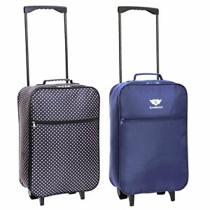 Ryanair 55 cm Cabin Carry On Hand Luggage Suitcase Approved Trolley Case Bag