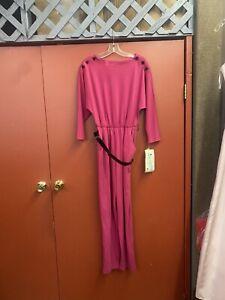 Vintage Ladies Jumpsuit Polyester Size 11, Fushia