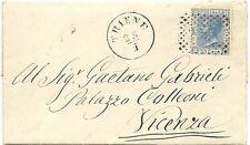 P6066   Vicenza, THIENE, annullo numerale a punti 1871
