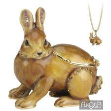 Hidden Treasures 175-HT-BUN Bunny Rabbit Trinket Box