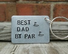 BEST DAD BY PAR Golf Christmas Gifts Golfing Accessories For Him Men Keyring