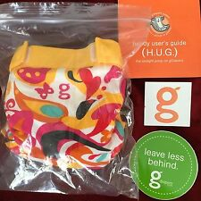 gFlutter gDiaper Floral gStyle Yellow Cover w/ gLiner SMALL w/Extras NEW
