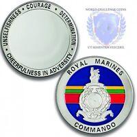 Royal Marines Memorabilia Blank Back Silver Challenge Spoof Coin / Medal