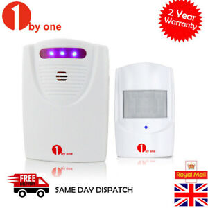 1byone Wireless Driveway Alarm Alert System Garage Security PIR Sensor Motion UK