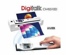NEW DIGITALK 2-IN-1 COMBO PORTABLE A4 1200DPI PHOTO & DOCUMENT SCANNER CI-HS510D