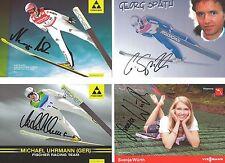 4 Autogramme Svenja Würth Michael Uhrmann Neumayer Georg Späth  LOT Skispringer