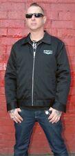 *Lip Service Blue Power Skull Twill Cycle Moto Jacket Garage Punk Rockabilly S