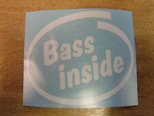 """""""BASS INSIDE"""" Bumper/Window Sticker - JDM VW EURO - Intel style Vinyl Decal"""