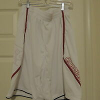Adidas Louisville Cardinals White Basketball Shorts New Mens X-LARGE