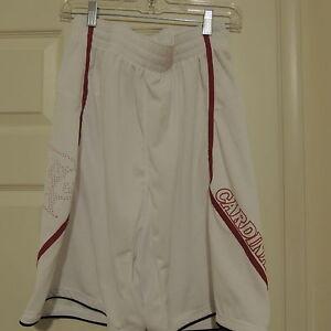 Adidas Louisville Cardinals White Basketball Shorts New Mens X-LARGE
