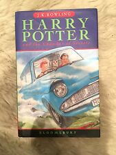 harry potter and the chamber of secrets 1998 bloomsbury hardback book